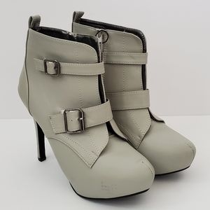 Rue21 Stiletto Pump Boots w/ Side Zip Buckles